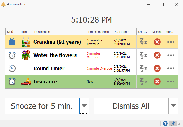 Improved Reminders Window